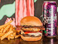 Temple Burger + Papas + Birra