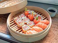 14 piezas salmón