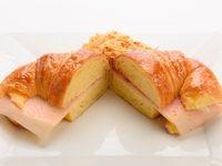 Medialuna mediana rellena de jamón y queso (2 unidades)