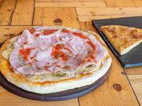 Pizza con jamón + Fainá