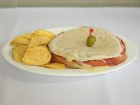 Sándwich de miga de bondiola con queso