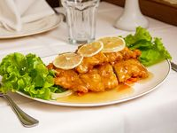 97 - Pollo frito con salsa de limón