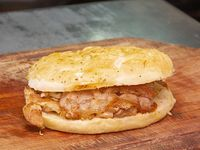 Sándwich de 1/4 de pollo con panceta