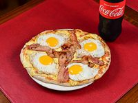 Promo - Pizzeta americana (30 cm) + Cerveza Pilsen 1 L o refresco línea Coca-Cola 1.5 L