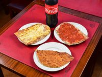 Promo - 1 pizza muzzarella + pizza + faina + gaseosa 1.5 L