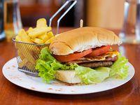 Nuevo! - Hamburguesa completa + papas fritas