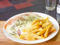 Milanesa napolitana con fritas