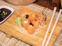 Geishas de salmón fresco, queso y palta