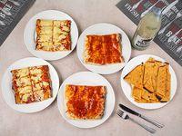 Promo 3 - 2 porciones de pizza + 2 porciones de pizza muzzarella + 2faina + Pepsi 1.25 L
