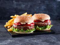 PROMO - 2 Hamburguesas clásicas con papas fritas