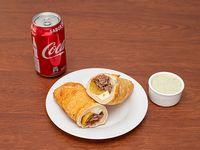 Combo 1 - Tequeyoyo frito + bebida 355 ml + salsa de ajo 60 ml