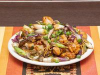 63 - Pollo con hongos chinos y bambú chino