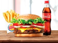Combo Whopper doble con queso