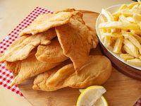Promo - 1 kg de milanesas de pollo con papas fritas (grande)