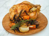 Pollo pastoril para 4 personas con 2 guarniciones