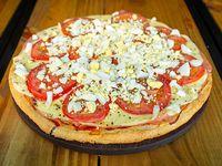 Pizza primavera con jamón
