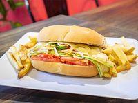 Combo - Vegetal Grill con papas fritas rústicas rústicas