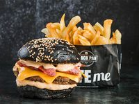 Combo - Bacon cheese burger + Papas fritas + Bebida 500 ml
