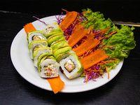 Uramaki green-tare roll (10 piezas)