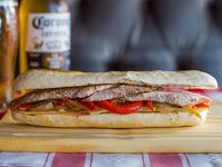 Sandwich gourmet de solomillo de cerdo