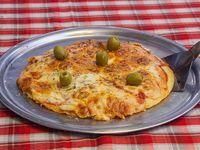 Pizza mozzarela individual (apto para celíacos)