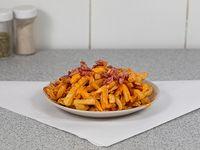 Porción de papas fritas con cheddar 500 g