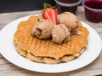 4 Waffles + Helado Chocolate Savory 1 L