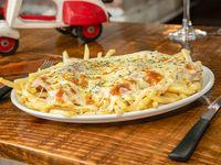 Milanesa de lomo napolitana con fritas