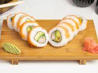 Sake ebi furai roll (10 cortes)