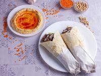 2 shawarmas + porción de hummus