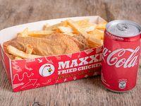Combo estudiantil - Porción de pollo frito + papas fritas + gaseosa 220 ml