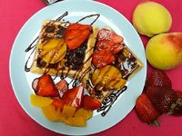 Waffles Belgas Fruit Mix