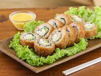 Hot roll ebi rebozado en panko (10 piezas)