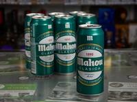 Six pack - Cerveza Mahou lata 470 ml