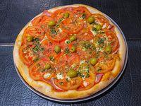 6- Pizza napolitana con jamón