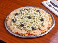 Pizza con roquefort