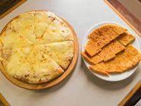 Promo - Pizzeta grande extra muzzarella +fainá