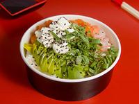 Gohan fusión camarón y pollo teriyaki