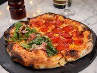Pizzeta mitad + mitad