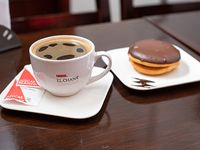 Cafe o cortado + alfajor