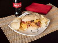 Combo Sloppy Chicken + Gaseosa + Paquete Papas Fritas