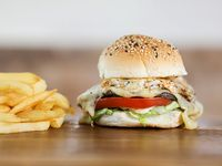 Hamburguesa especial al pan con fritas