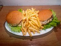 2 X 1 hamburguesa completa al pan con fritas