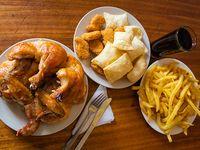 Promo 6 - Tira de costillar + pollo asado + papas fritas king + papas fritas lider