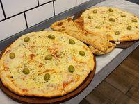 Promo - 2 pizzas mozzarellas grandes + 4 fainá