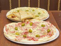 Promo 1 - Pizza muzzarella + 6 empanadas + 2 fainá