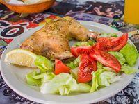 1/4 pollo con ensalada