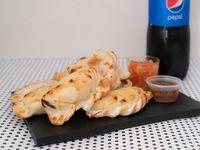 Promo - 8 empanadas + gaseosa línea Pepsi 1.5 L