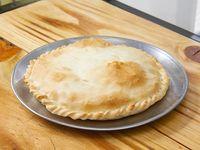 Tarta individual de jamon queso y tomate