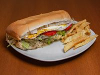 Sándwich de lomo vegetariano